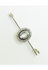 Finishing Touch Mother of Pearl Stock Pin Medium Silver