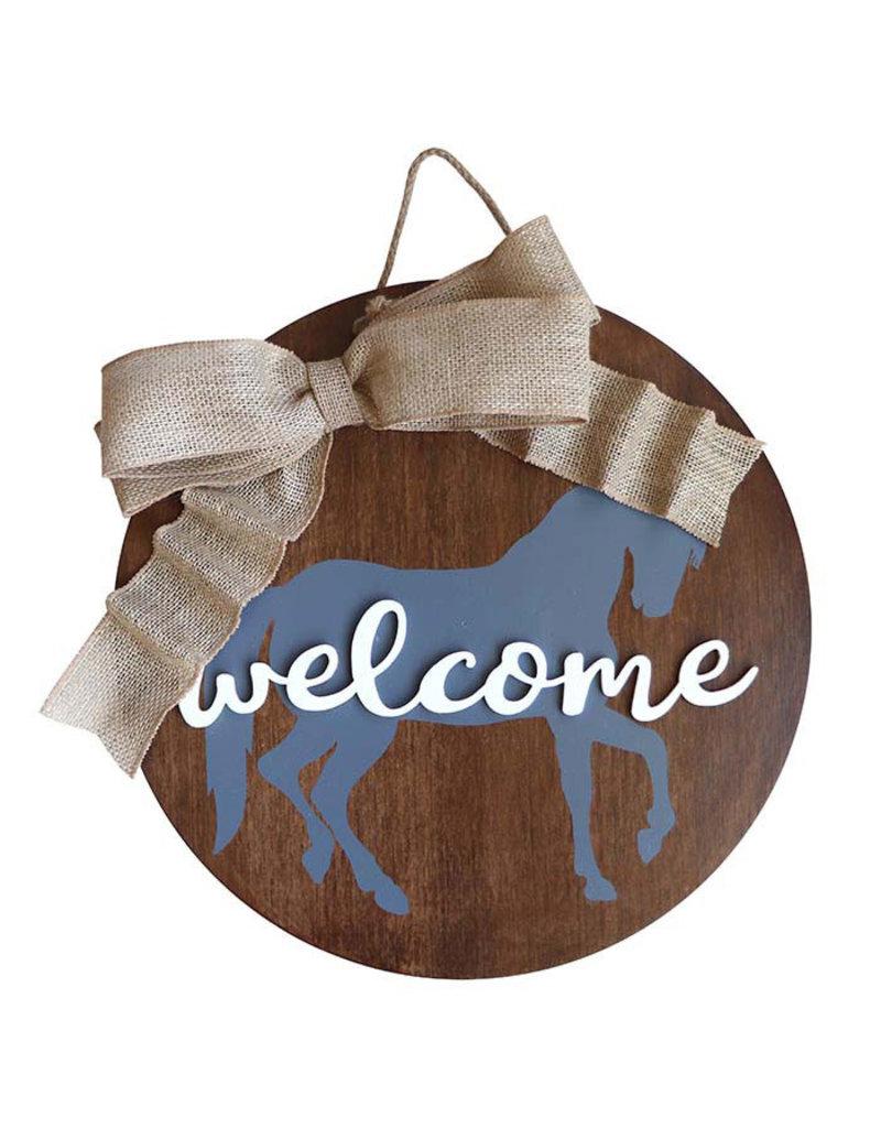 Kelley Welcome Horse Door Hanger
