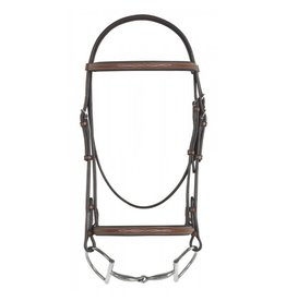 Pessoa Fancy Raised Padded Bridle with Laced Reins