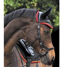 Horseware Rambo Air Tech Ear Net Black & Red Cob/Horse