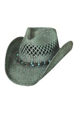 "Bullhide Hat Co ""Let It Rain"" Hat Turquoise Medium"