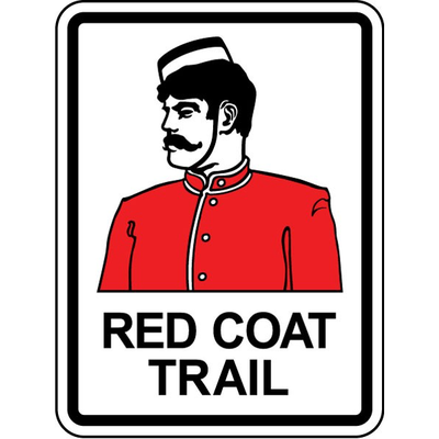 ATS Red Coat Trail Sign