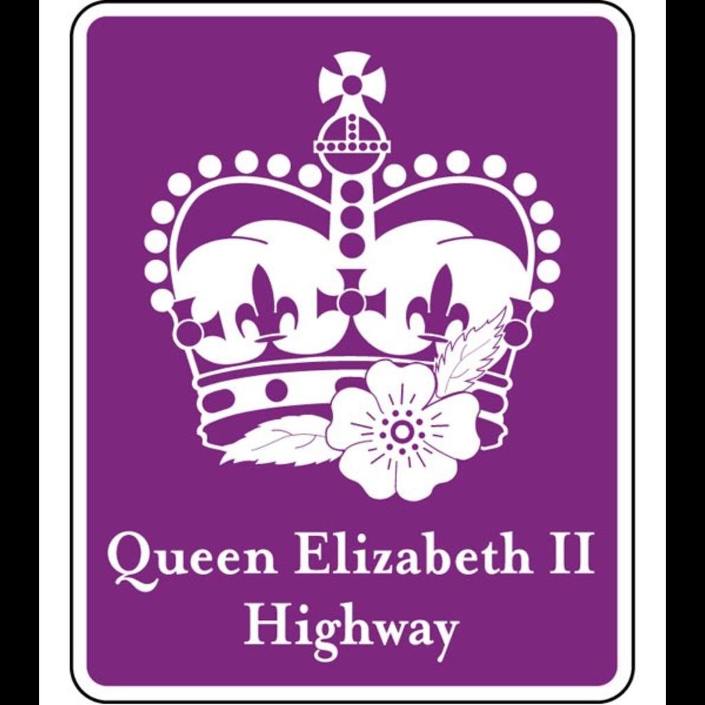 ATS Queen Elizabeth II Highway Sign