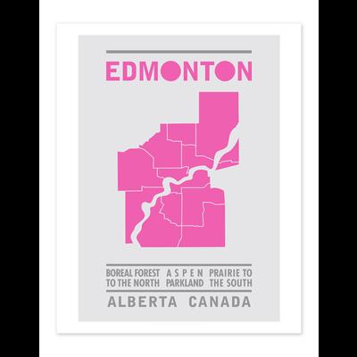 Bee Waeland Bee Waeland | Edmonton Map Magenta
