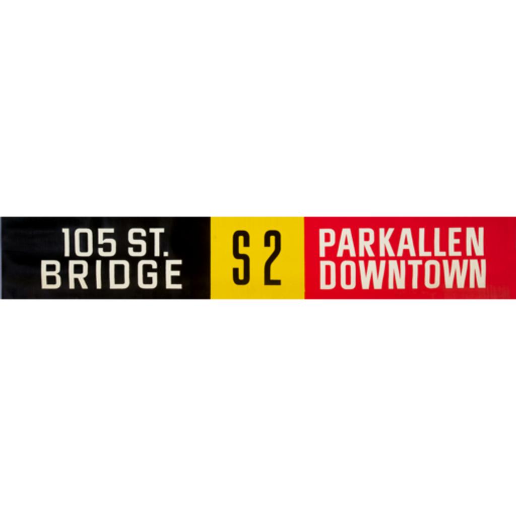 Vivid Print ETS Single Destination | 105 St. Bridge / Parkallen Downtown