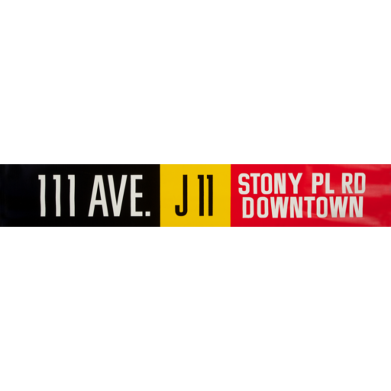 Vivid Print ETS Single Destination | 111 Ave. / Stony Pl Rd Downtown