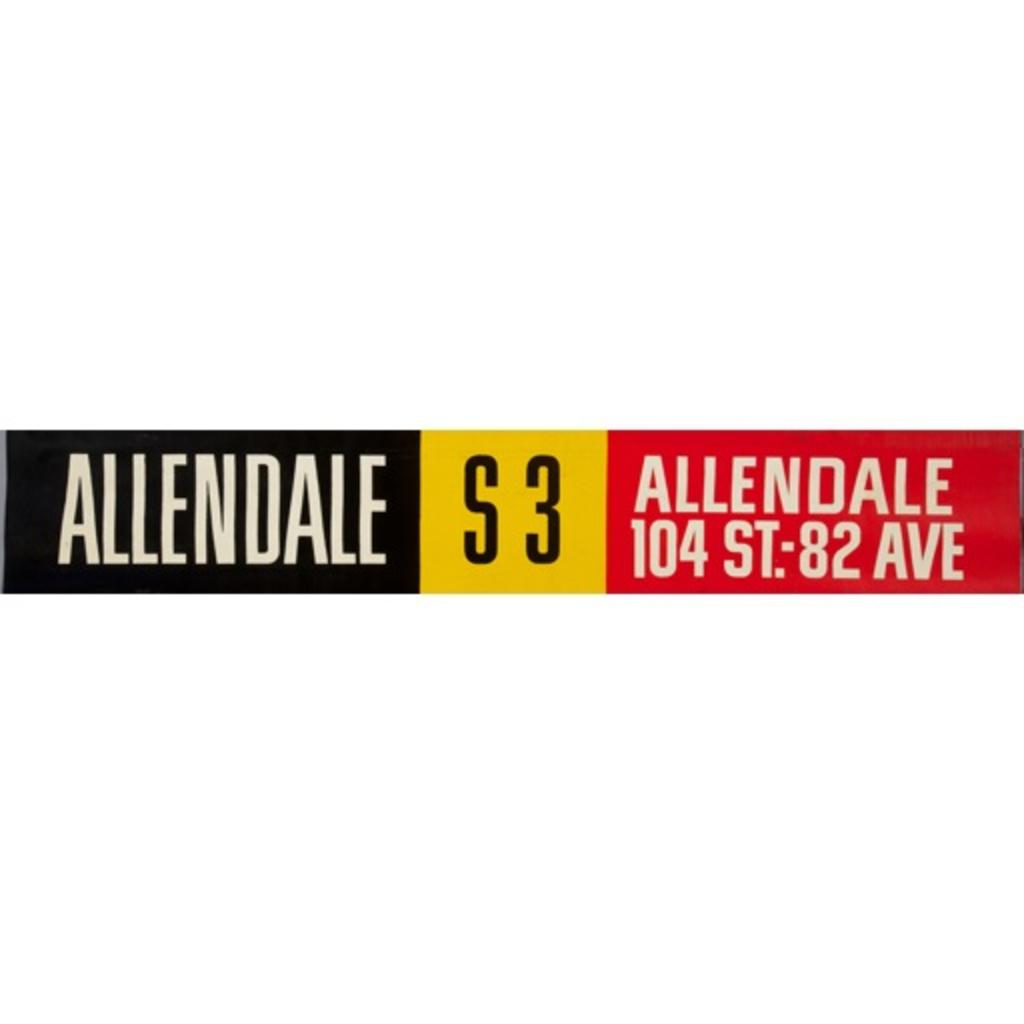 Vivid Print ETS Single Destination | Allendale / Allendale 104 St-82 Avenue