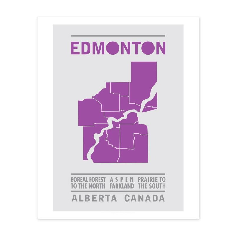 Bee Waeland Bee Waeland | Edmonton Map Purple