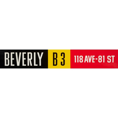 Vivid Print ETS Single Destination | Beverly / 118 Ave-81 St