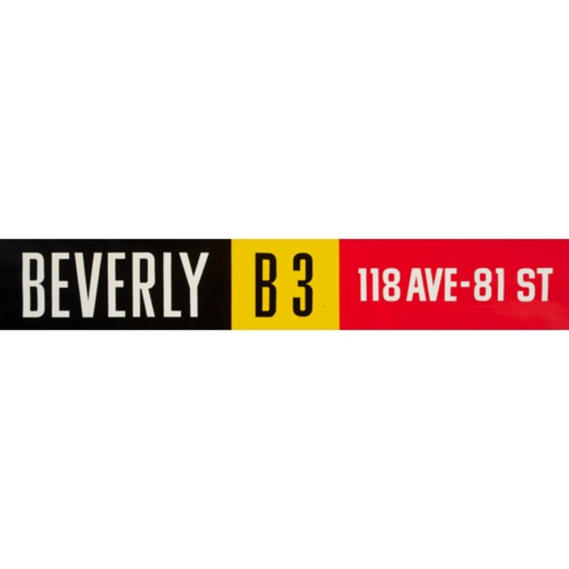 Vivid Print ETS Single Destination | Beverly / 118 Ave-81 St