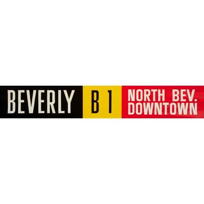 Vivid Print ETS Single Destination | Beverly / Via 118 Ave. Downtown