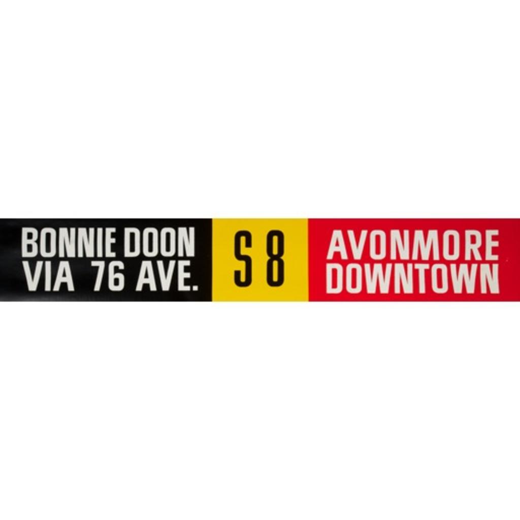 Vivid Print ETS Single Destination   Bonnie Doon Via 76 Ave. / Avonmore Downtown
