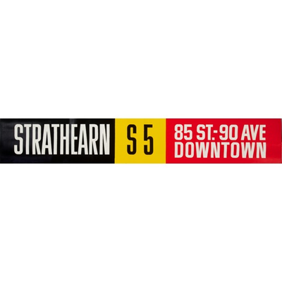Vivid Print ETS Single Destination | Srathearn / 85 St. - 90 Ave Downtown
