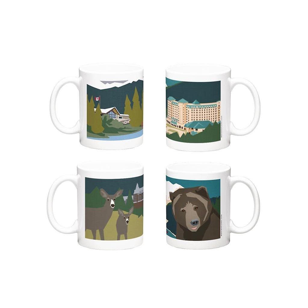 Bee Waeland Bee Waeland   Mountain Series Set Of Four Mugs