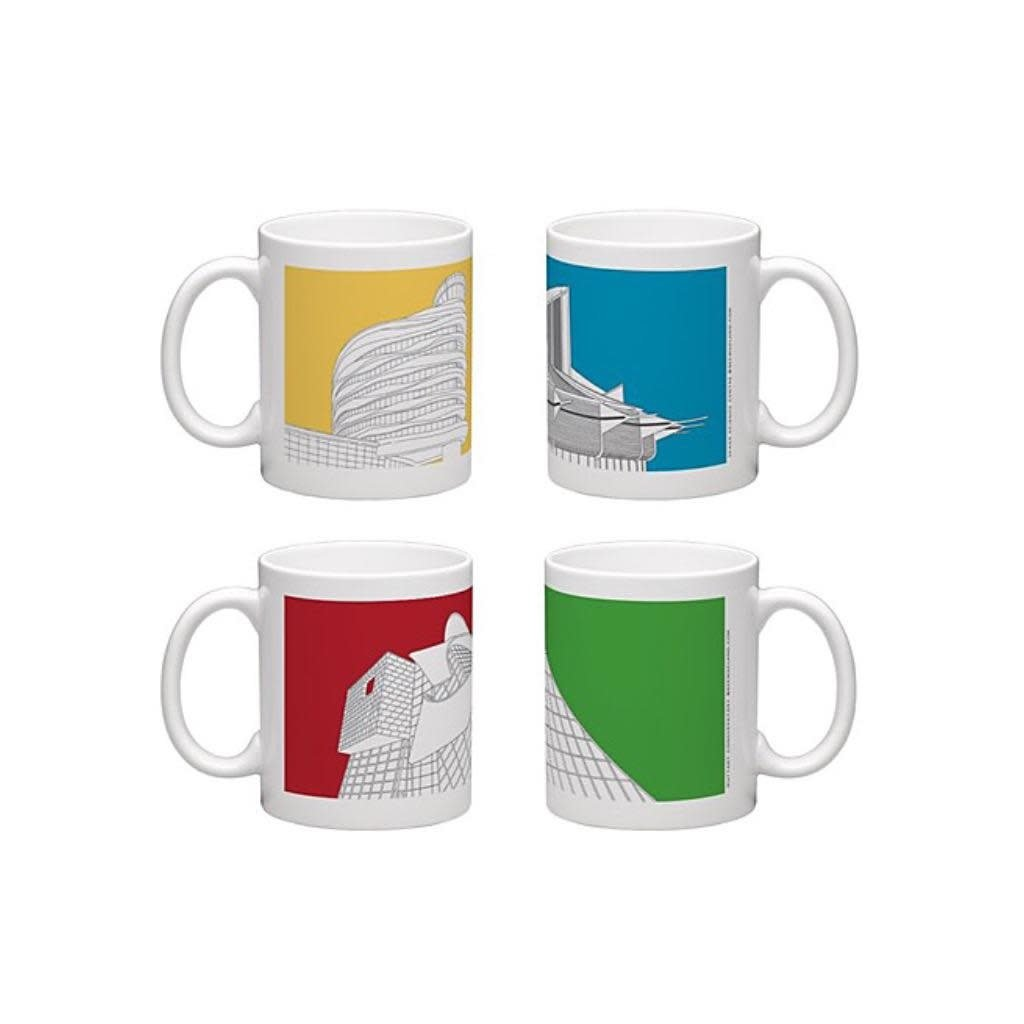 Bee Waeland Bee Waeland | Edmonton Architecture Series Set Of Four Mugs