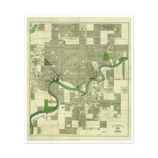 Vivid Archives Driscoll & Knight Edmonton Map 1912
