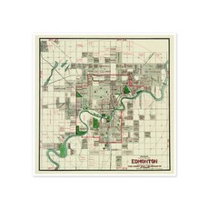Vivid Archives Mundy's Map of Greater Edmonton 1912