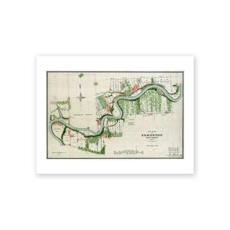 Vivid Archives Plan of Edmonton 1883 Map