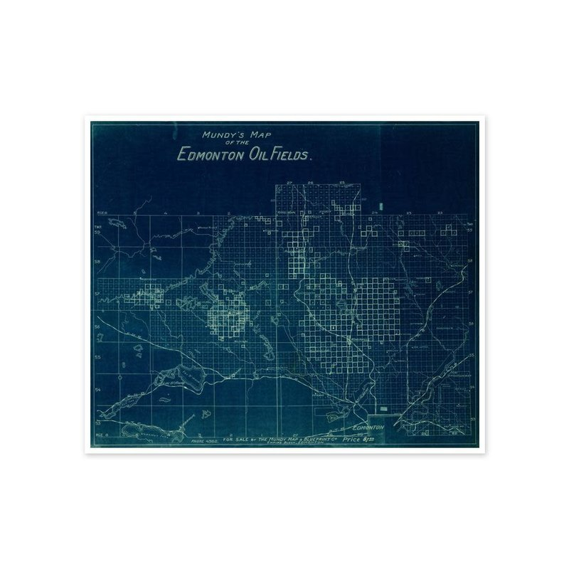 Vivid Archives Mundy's Map of Edmonton Oil Fields
