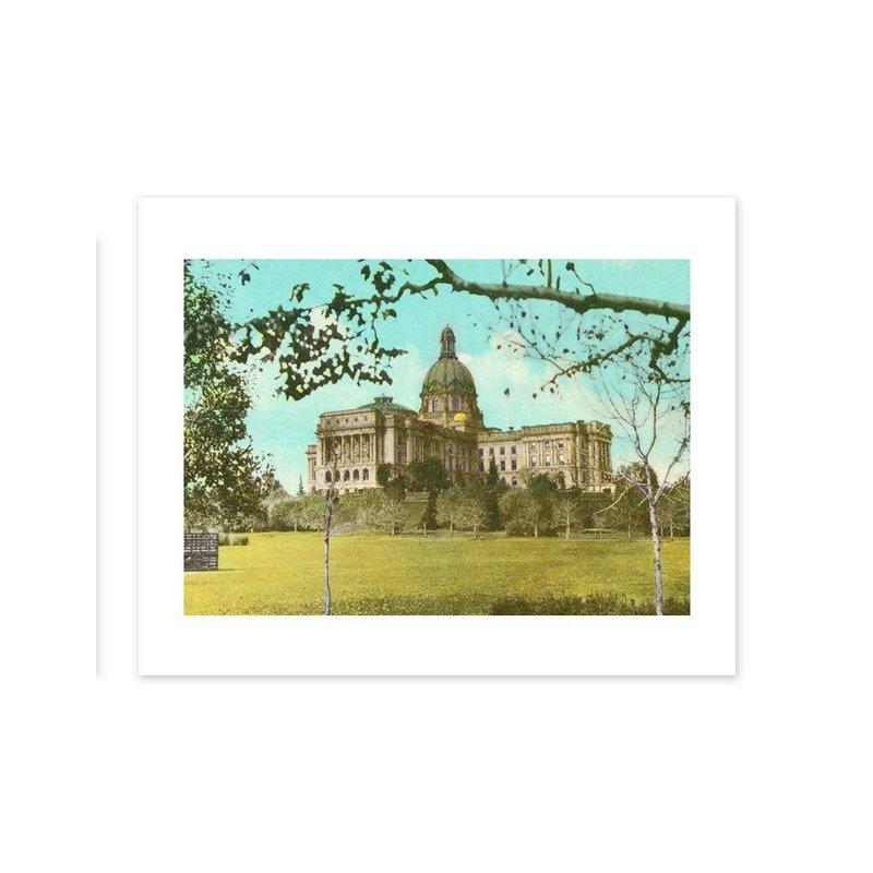 Vivid Archives Alberta Legislature Postcard Print