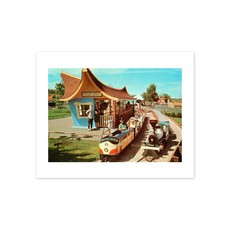 Vivid Archives Valley Zoo Train Postcard Print