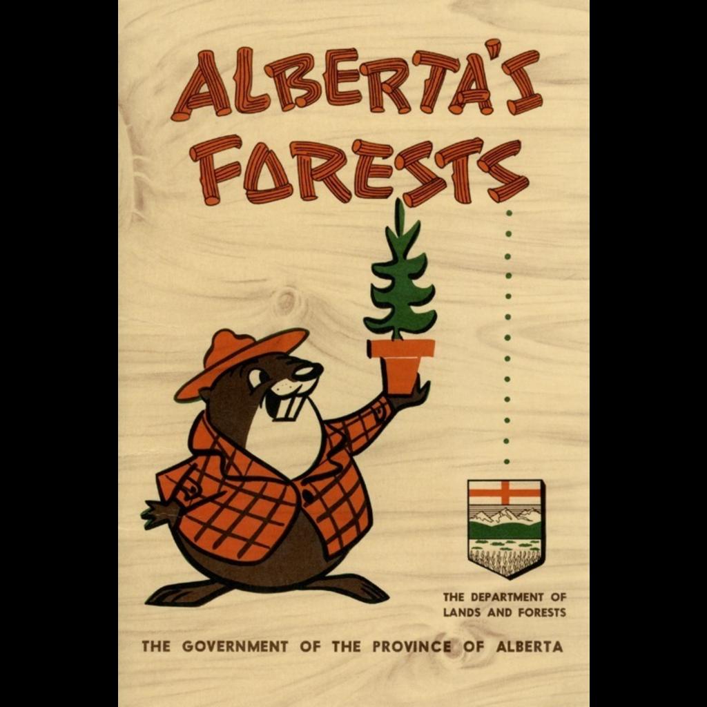 Vivid Archives Alberta's Forests Bertie Beaver Poster