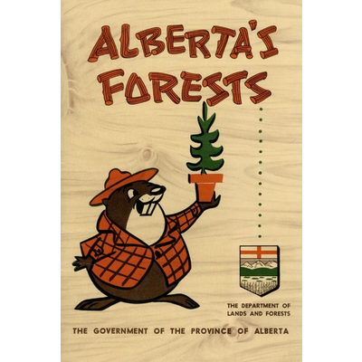 Vivid Archives Alberta's Forests Bertie Beaver Poster