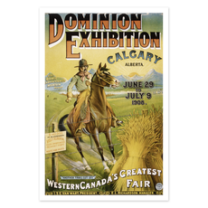Vivid Archives Calgary Dominion Exhibition 1908 Poster