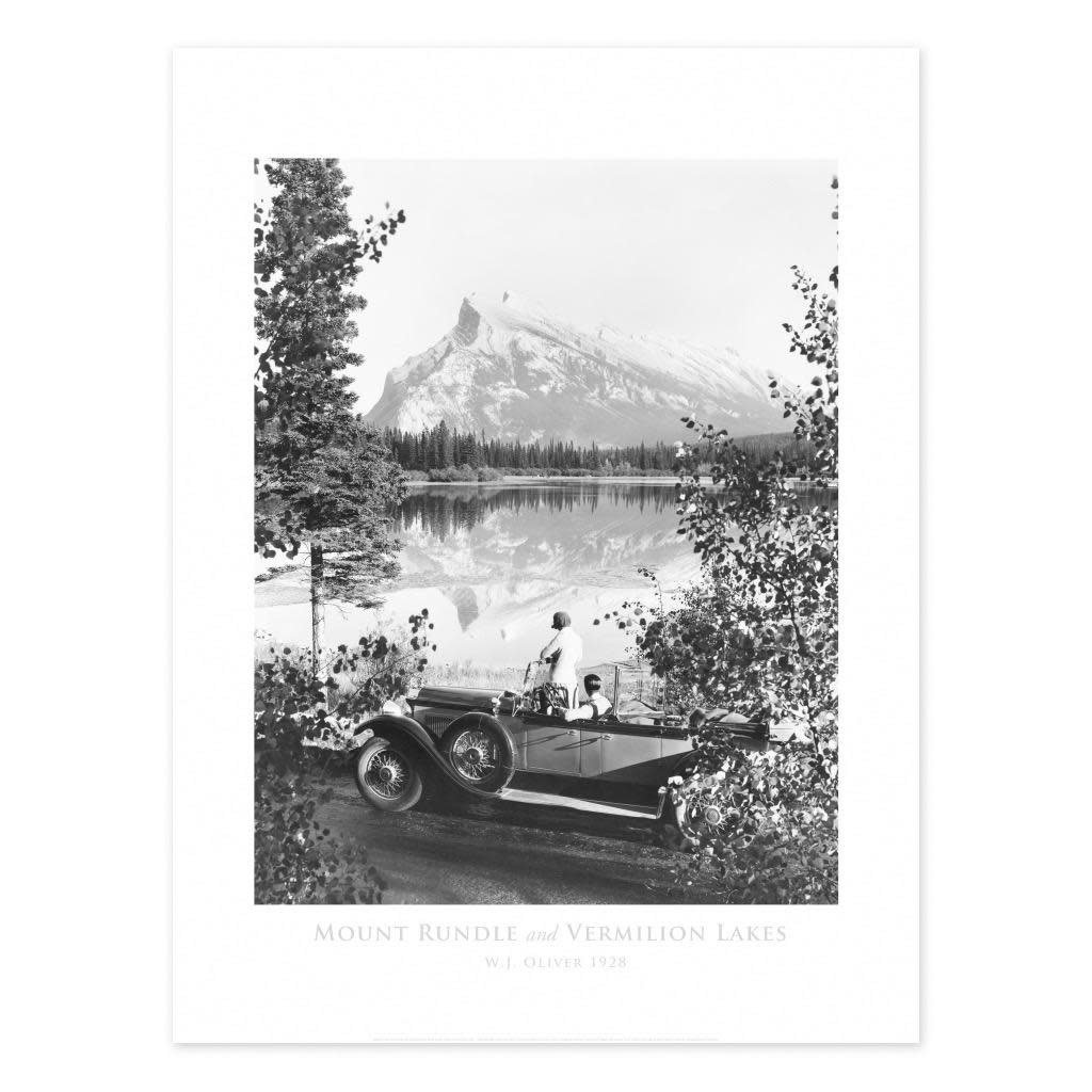 Vivid Archives Mount Rundle 1928 Poster