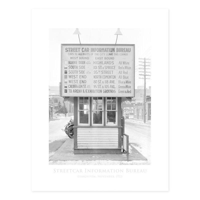 Vivid Archives Streetcar Information Bureau 1923 Poster
