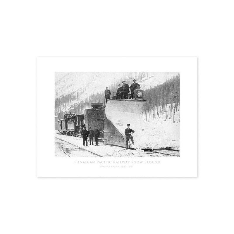 Vivid Archives Canadian Pacific Railway Snow Plough 1899 Poster