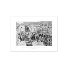 Vivid Archives Construction of Centre Street Bridge 1916 Poster