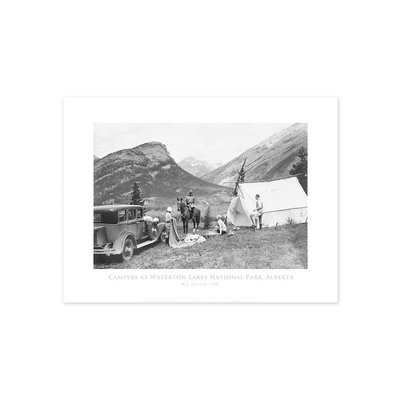 Vivid Archives Campers at Waterton Lakes National Park 1928 Poster
