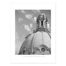 Vivid Archives Legislature Building Dome 1951 Poster