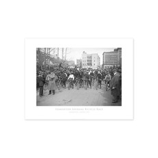 Vivid Archives Edmonton Journal Bicycle Race 1919 Poster
