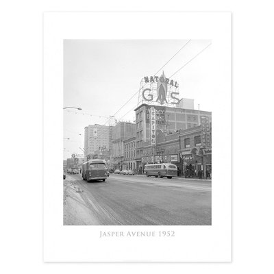Vivid Archives Jasper Avenue 1952 Poster