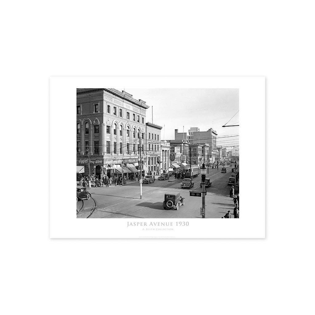 Vivid Archives Jasper Avenue Looking East 1930 Poster