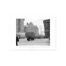 Vivid Archives Truck of Hay Stalled on Jasper Avenue January 20, 1952 Poster