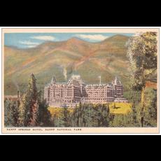 Vivid Print Banff Springs Postcard