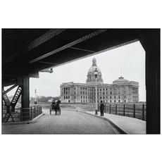 Vivid Print Legislature Building from Bridge 1914 Postcard