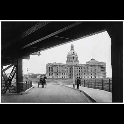 Vivid Print Legislature Building from Bridge 1914 Postcard