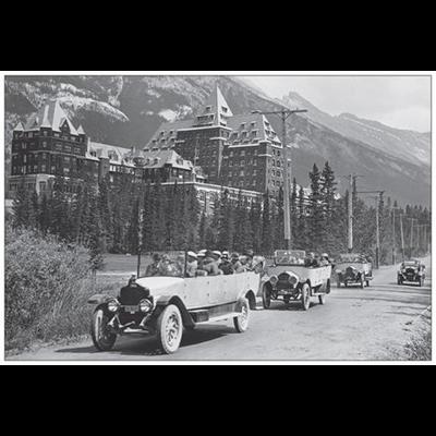 Vivid Print Banff Springs Hotel Postcard