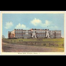 Vivid Print Normal School Postcard