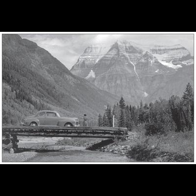 Vivid Print Banff Jasper Highway 1951 Postcard