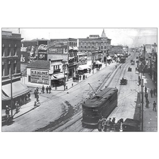 Vivid Print Jasper Avenue East from Queen's Avenue 1914 Postcard