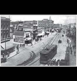 Vivid Print Jasper Avenue East from Queen's Avenue 1914 Postcard