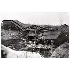Vivid Print Calgary Edmonton Train Wreck 29 May 1899 Postcard