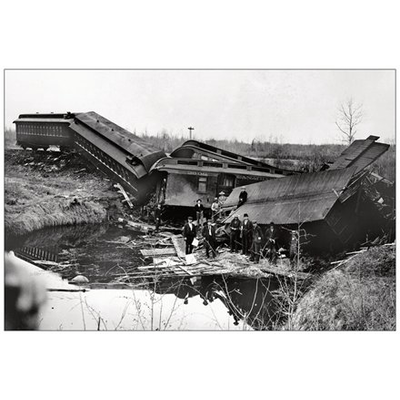 Vivid Print Calgary Edmonton Train Wreck 29 May 1899 Postcard