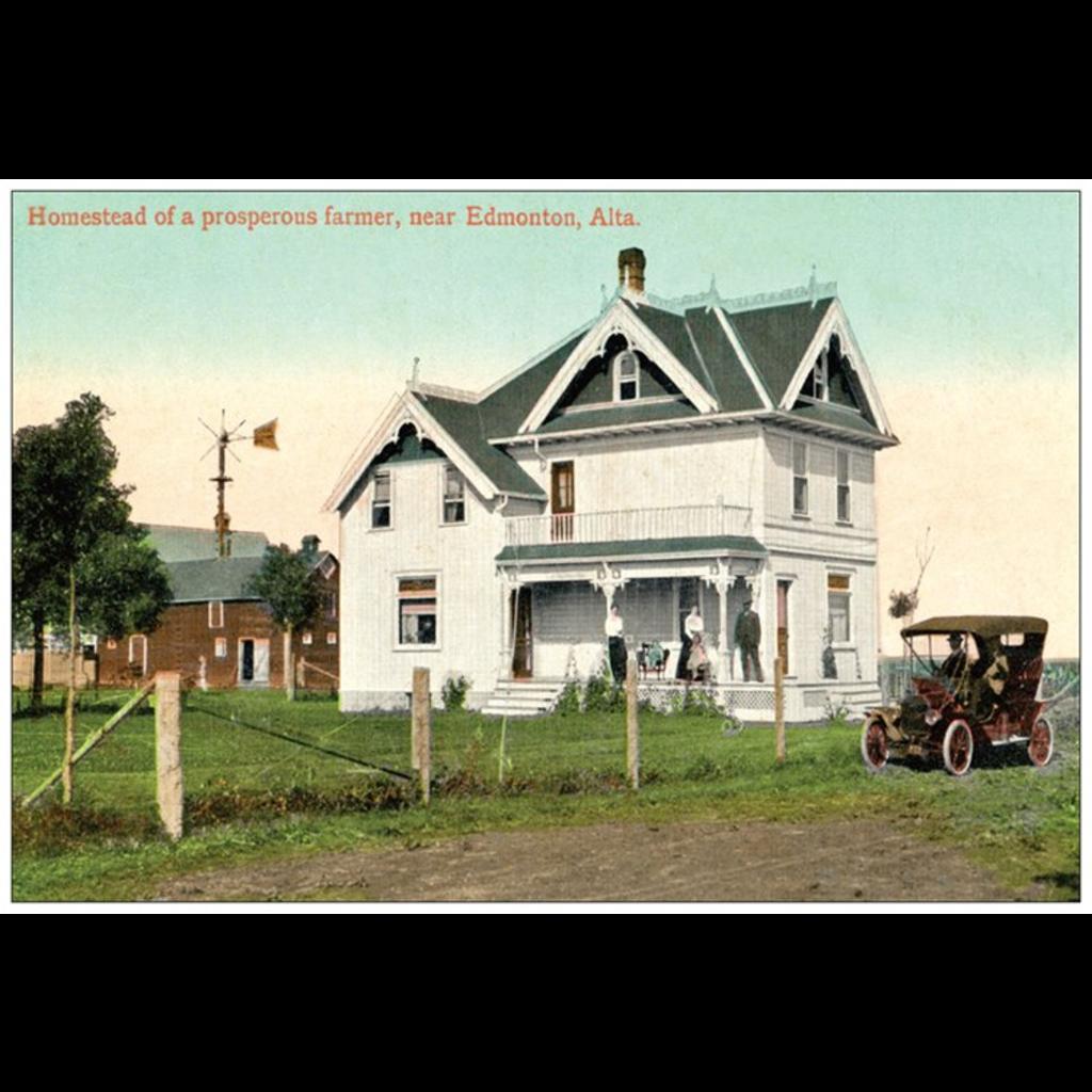 Vivid Print Homestead Postcard