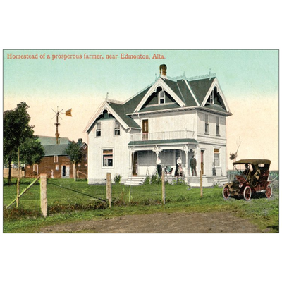 Vivid Print Homestead Postcard